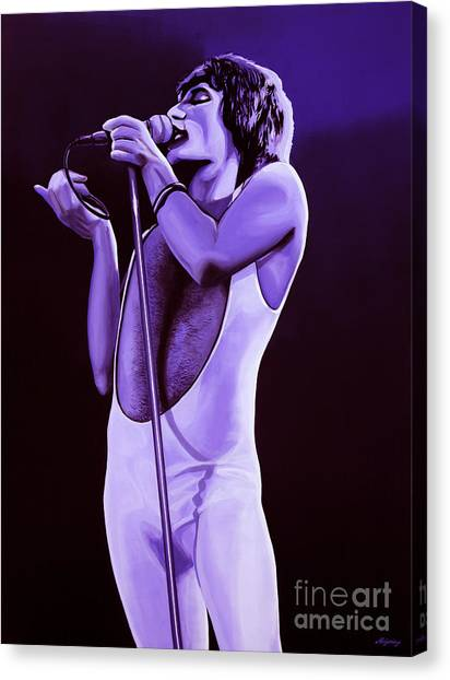 Crazy Canvas Print - Freddie Mercury Of Queen by Paul Meijering