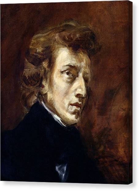 Gent Canvas Print - Frederic Chopin  by Ferdinand Victor Eugene Delacroix