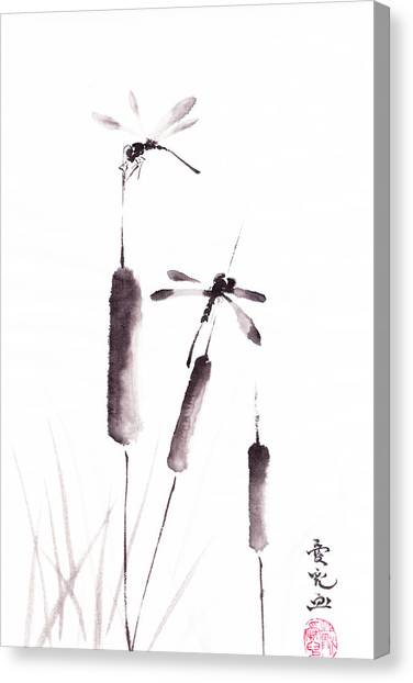 Free As The Dragonflies Canvas Print