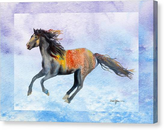 Da114 Free Gallop By Daniel Adams Canvas Print