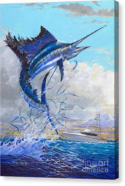 Swordfish Canvas Print - Free Jumper Off00152 by Carey Chen