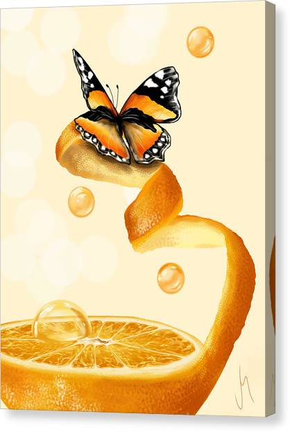 Juice Canvas Print - Free Play by Veronica Minozzi