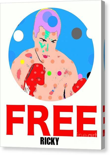 Free Ricky Canvas Print by Ricky Sencion