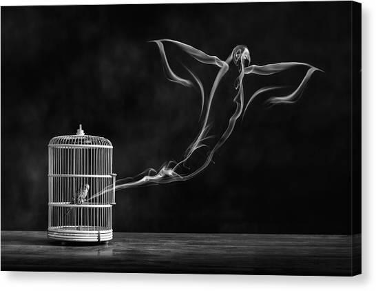 Soul Canvas Print - Freedom Bird by Alaa Al-shurafa