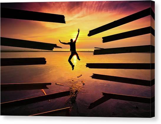 Jump Canvas Print - Freedom by Christophe Kiciak