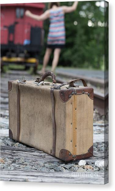 Old Caboose Canvas Print - Freedom by Edward Fielding