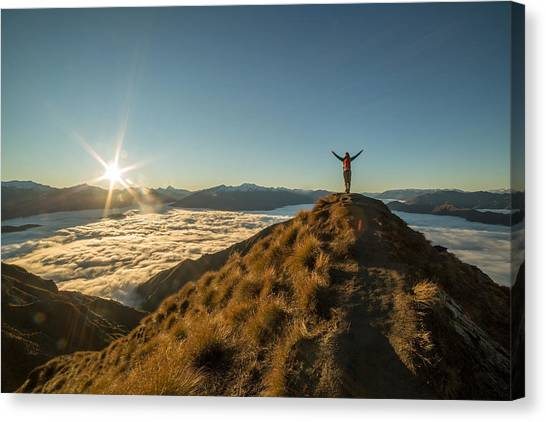 Freedom In Nature Canvas Print by Swissmediavision