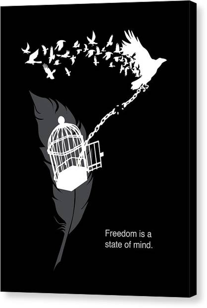 Philosophy Canvas Print - Freedom Is A State Of Mind by Sassan Filsoof