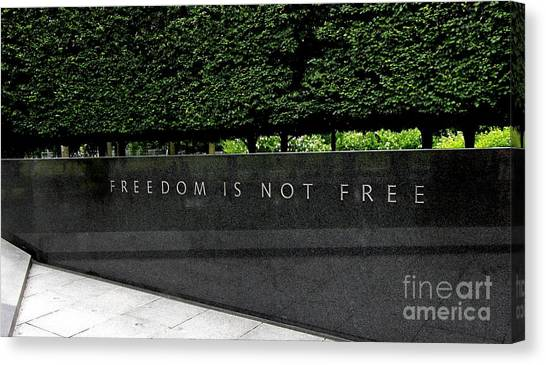 Freedom Is Not Free Canvas Print
