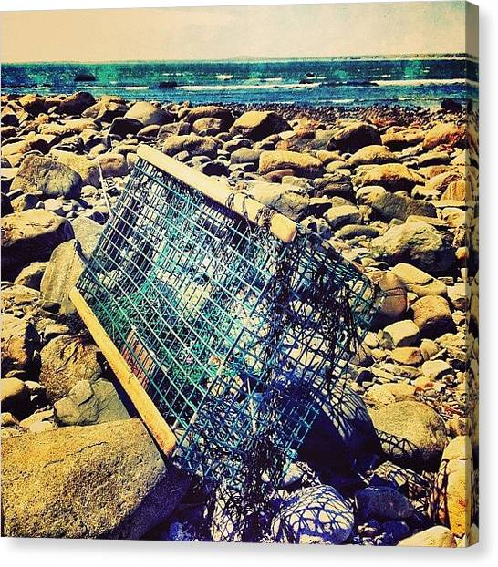 Lobster Canvas Print - Freedom Isn't Free /// #lobster #trap by Nick Lucey