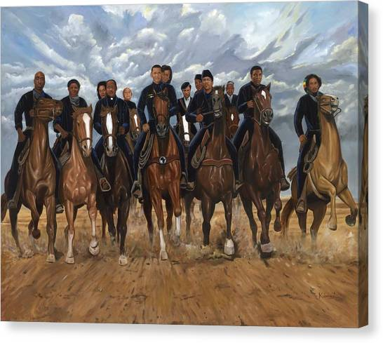 Muhammad Ali Canvas Print - Freedom Riders by Kolongi TheArtist