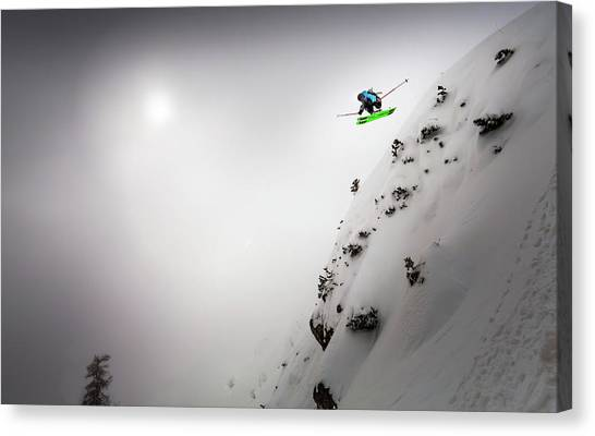 Skiing Canvas Print - Freedom by Sandi Bertoncelj