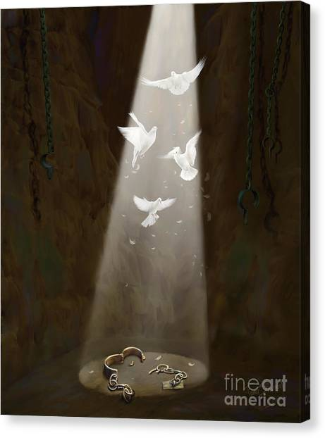 Prophetic Art Canvas Print - Freedom by Tamer and Cindy Elsharouni
