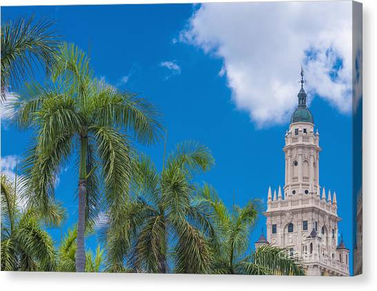 University Of Miami Canvas Print - Freedom Tower At Miami Dade College by Andre Babiak
