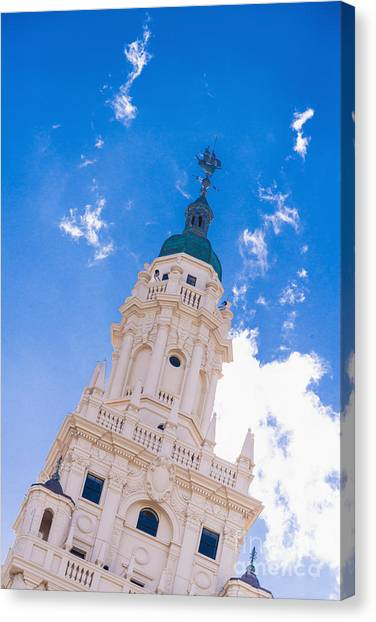 Liberty University Canvas Print - Freedom Tower Dade College Miami by Andre Babiak