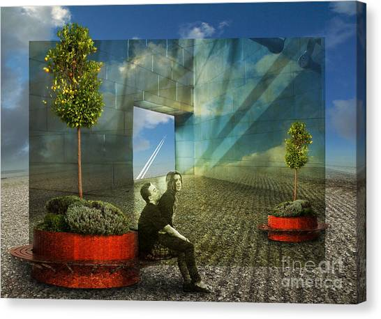 Freedom Window Canvas Print