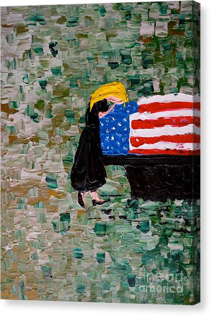 Nsa Canvas Print - Freedoms Widow by Jacqueline Athmann