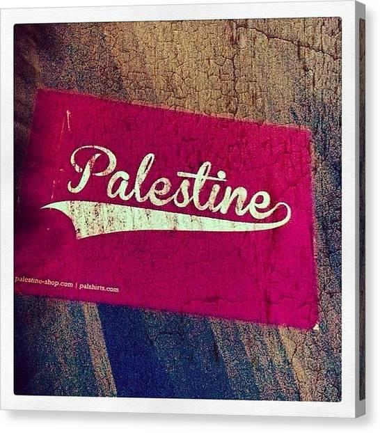 Palestinian Canvas Print - #freepalestine #palestine #freedom by Michele Stuppiello