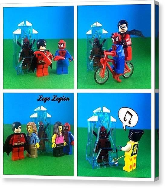Robins Canvas Print - Freeze Pt2  #legolegion #brickcentral by Lego Legion