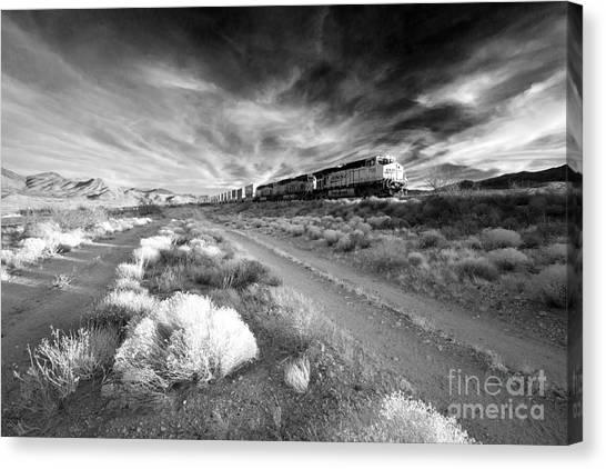 Freight Trains Canvas Print - Freight Arizona  by Rob Hawkins