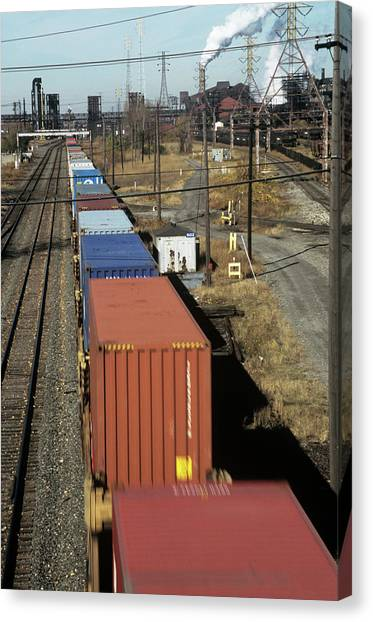 Freight Trains Canvas Print - Freight Train by David Hay Jones/science Photo Library