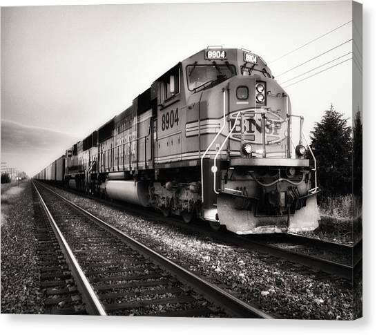 Freight Trains Canvas Print - Freight Train by Tom Druin
