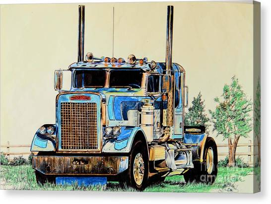 Freightliners Canvas Print