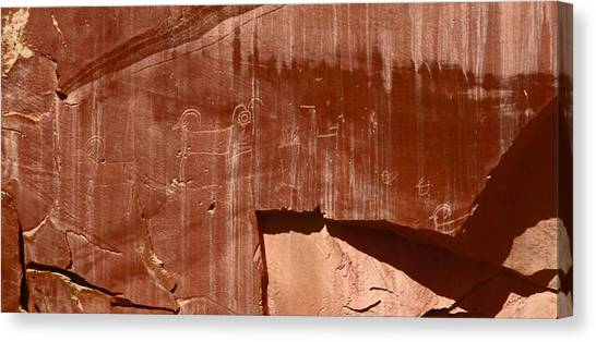 Fremont Culture Petroglyphs In Utah Canvas Print
