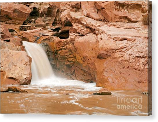 Fremont River Falls Capitol Reef National Park Canvas Print