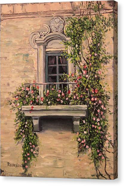 French Balcony Canvas Print