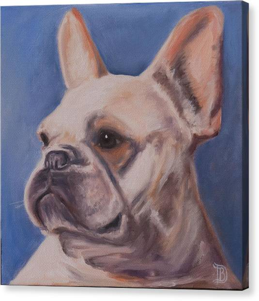 French Bull Dogs Canvas Print - French Bulldog by Bobbie Deuell
