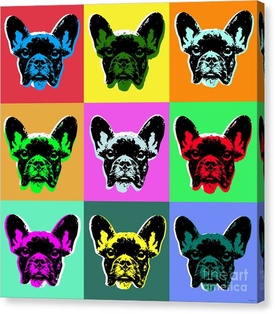 Mastiffs Canvas Print - French Bulldog by Jean luc Comperat