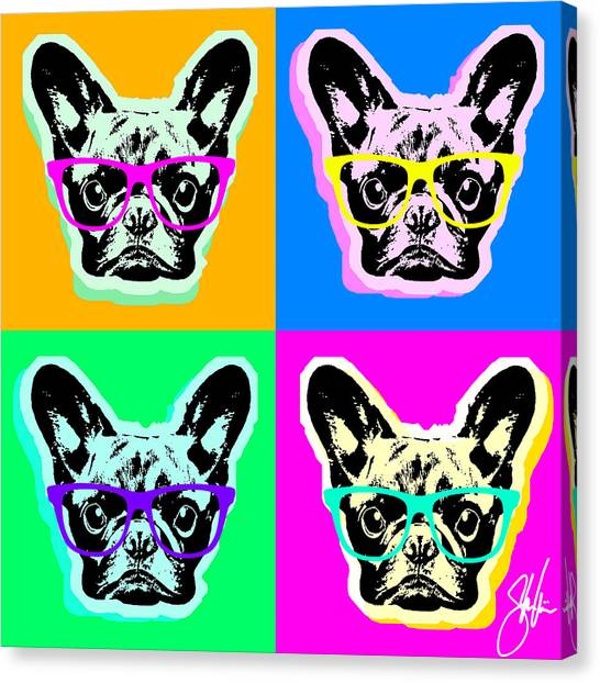 French Bulldog Pop Art Canvas Print