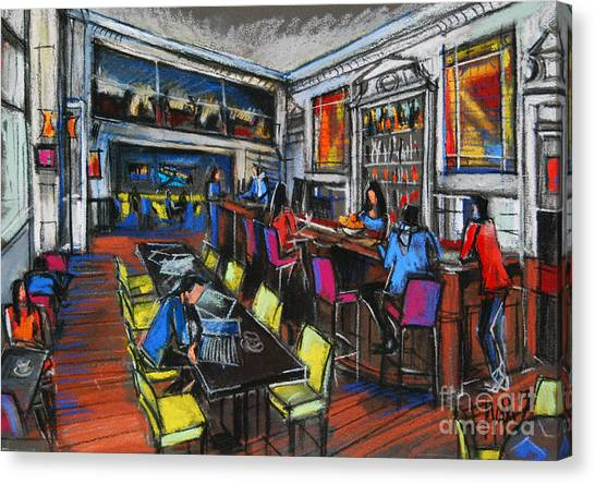 French Cafe Interior Canvas Print