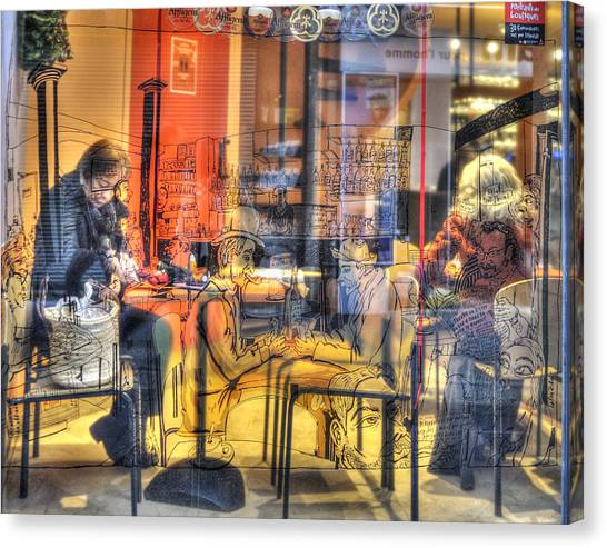 French Cafe Life Canvas Print
