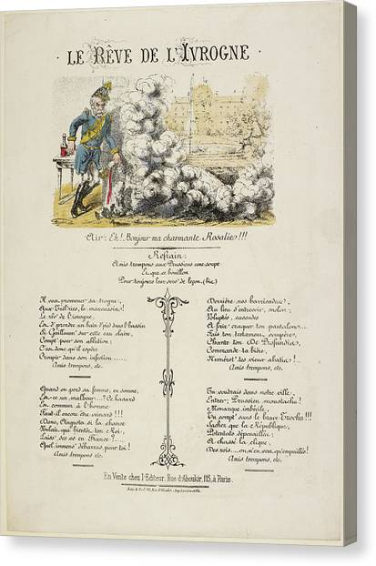Political Science Canvas Print - French Caricature - Le Reve De L'ivrogne by British Library