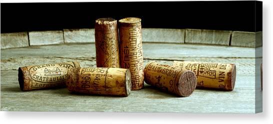 Wine Barrels Canvas Print - French Connection by Jon Neidert