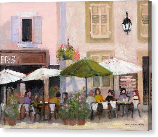French Country Cafe Canvas Print