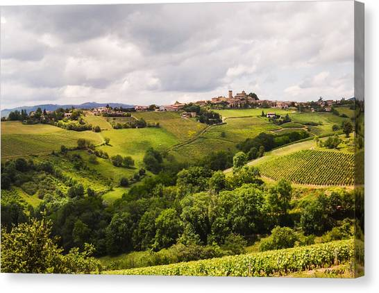 Oingt Canvas Print - French Countryside by Allen Sheffield