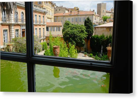 French Courtyard Canvas Print