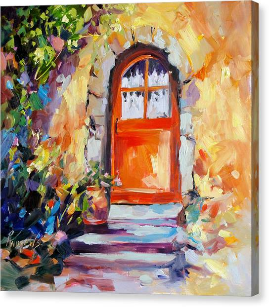 French Door Canvas Print by Rae Andrews