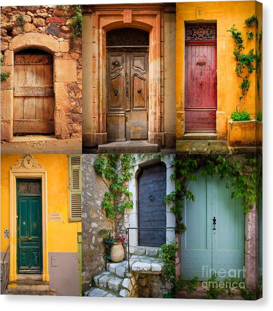 Europa Canvas Print - French Doors by Inge Johnsson