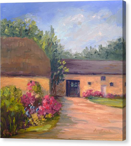 French Farmhouse   Loire Valley Canvas Print