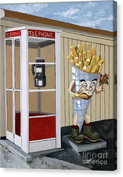 French Fry Guy Canvas Print by Jennifer  Donald