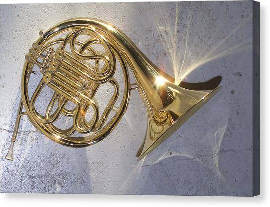 Brass Instruments Canvas Print - French Horn Iv by Jon Neidert