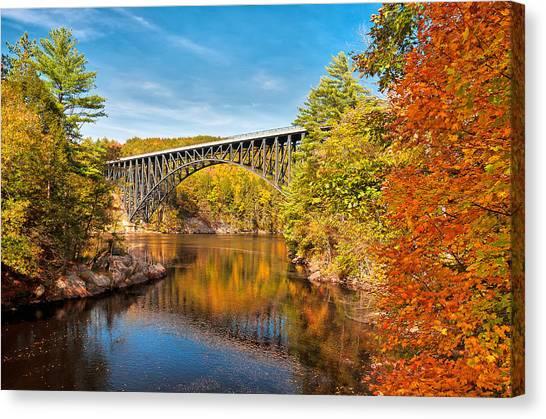 French King Bridge In Autumn Canvas Print