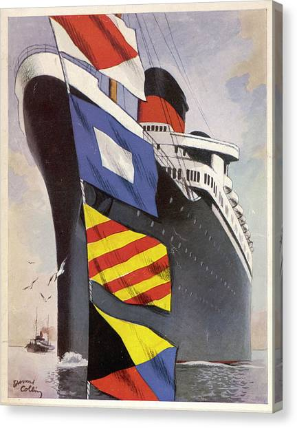 Liberte Canvas Print - French Liner, Formerly The  German by Mary Evans Picture Library