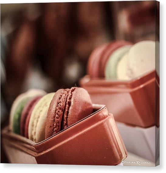 Canvas Print featuring the photograph French Macaroons by Stwayne Keubrick