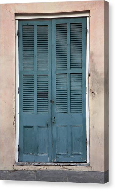 French Quarter Doors Canvas Print