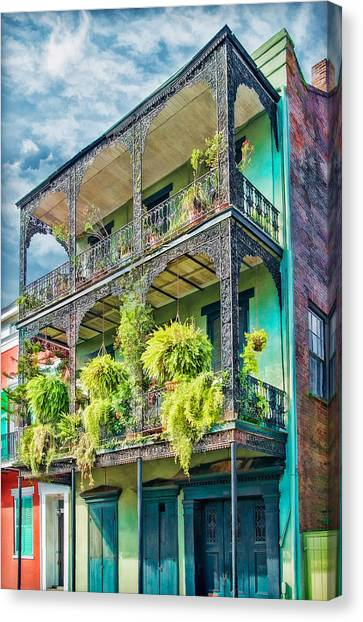 French Quarter Ferns Canvas Print